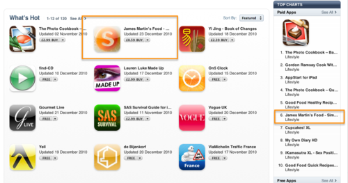 IPad iTunes Position 27th Dec 2010